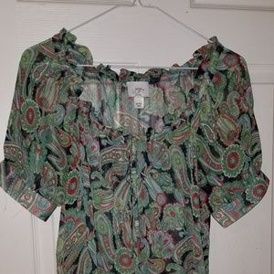 Loft petites thin see through shirt